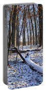 Fresh Snow In The Woods Portable Battery Charger