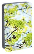 Fresh Spring Green Buds Portable Battery Charger