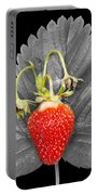 Fresh Strawberry And Leaves Portable Battery Charger