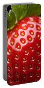 Fresh Strawberry Close-up Portable Battery Charger