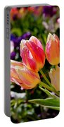 Fresh Tulips Portable Battery Charger