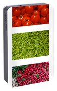 Fresh Vegetable Triptych Portable Battery Charger