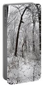 Freshly Fallen Snow Portable Battery Charger