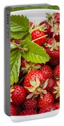 Freshly Picked Strawberries Portable Battery Charger