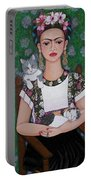 Frida Cat Lover  Portable Battery Charger