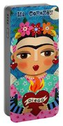 Frida Kahlo Angel And Flaming Heart Portable Battery Charger