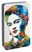 Frida Kahlo Art - Viva La Frida - By Sharon Cummings Portable Battery Charger