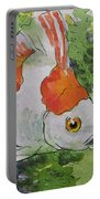 Friendly Fantail Tiny Goldfish Painting Portable Battery Charger