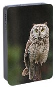 Friendly Owl In The Forest Portable Battery Charger