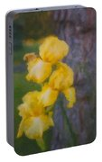 Friendly Yellow Irises Portable Battery Charger