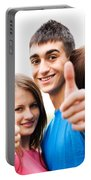 Friends Showing Thumb Up Sign Portable Battery Charger