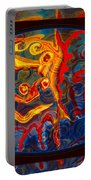 Friendship And Love Abstract Healing Art Portable Battery Charger