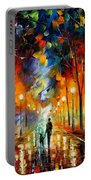 Friendship - Palette Knife Oil Painting On Canvas By Leonid Afremov Portable Battery Charger