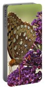 Fritillary Butterfly On Buddleia Portable Battery Charger