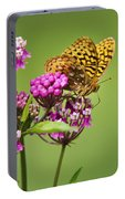 Fritillary Butterfly Square Format Portable Battery Charger