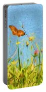 Fritillary In Flight Portable Battery Charger