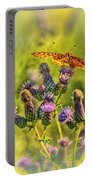 Fritillary On Thistle Portable Battery Charger