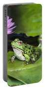 Frog And Water Lilies Portable Battery Charger