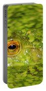 Frog In Single Celled Algae Portable Battery Charger