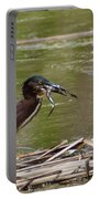 Frog Legs And Green Heron Portable Battery Charger