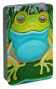 Frog On A Lily Pad Portable Battery Charger