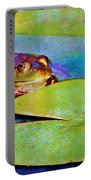 Frog - On A Water Lily Pad Portable Battery Charger