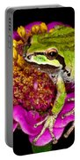 Frog  On Flower Portable Battery Charger