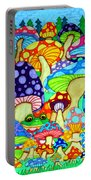 Frogs And Magic Mushrooms Portable Battery Charger