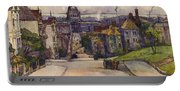 From A Hilltop In San Francisco By  Rowena Meeks Abdy Early California Artist C 1906 Portable Battery Charger