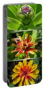 From Bud To Bloom - Zinnia Portable Battery Charger