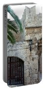 Fronds Over Castle Doorway Portable Battery Charger