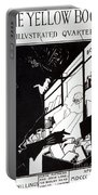 Front Cover Of The Prospectus For The Yellow Book Portable Battery Charger by Aubrey Beardsley