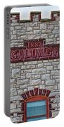 Front Of Calumet Hotel-1887  In Pipestone-minnesota Portable Battery Charger