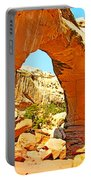 Front Of Hickman Bridge In Capitol Reef National Park-utah Portable Battery Charger