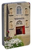 Front Of Sainte-famille Church On Ile D'orleans-qc Portable Battery Charger