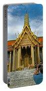 Front Of Thai-khmer Pagoda At Grand Palace Of Thailand In Bangkok Portable Battery Charger