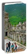 Front Of Theater In Ephesus-turkey Portable Battery Charger