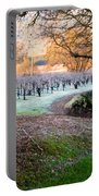 Frost In The Valley Portable Battery Charger by Bill Gallagher