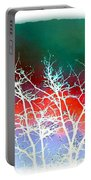 Frost Shrouded Tree Portable Battery Charger