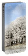Frosted Copse Portable Battery Charger by Anne Gilbert
