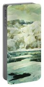 Frosted Trees Portable Battery Charger by Jonas Lie