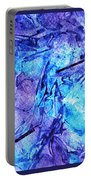 Frozen Castle Window Blue Abstract Portable Battery Charger