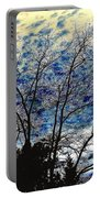 Frosty Fall Tree Portable Battery Charger
