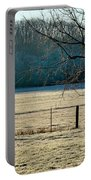 Frosty Morning Winter Landscape Portable Battery Charger