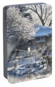 Frosty Winter Window Portable Battery Charger