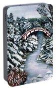 Frozen Brook - Winter - Bridge Portable Battery Charger