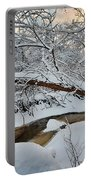 Frozen Creek Portable Battery Charger by Sebastian Musial