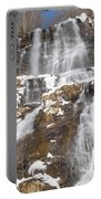 Frozen Falls From The Bridge Portable Battery Charger