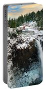 Frozen Snoqualmie Falls Portable Battery Charger