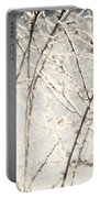 Frozen Tree Branches In Winter Portable Battery Charger